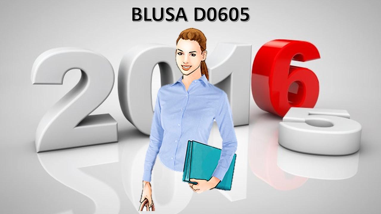 BLUSA OXFORD EN M.L MOD. D0605