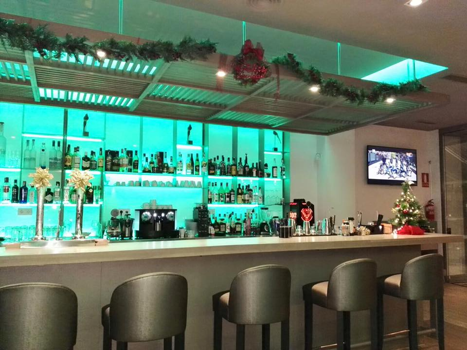 Christmas-decorated Bar