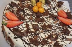 Home-made White&Dark Chocolate Birthday Cake