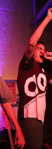 Riley P and Schmitty performing at Happy Yess Darwin