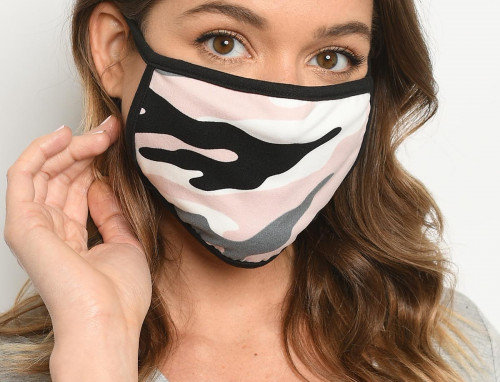 Pink Camouflage Reusable Face Mask