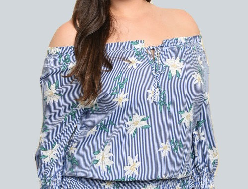 Lily Floral Top - Plus Size