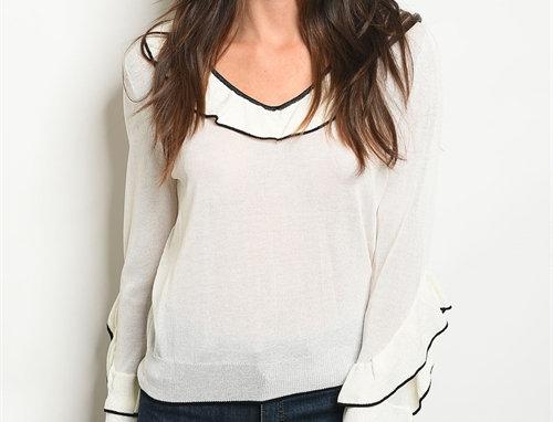 Sarah Ruffled Sweater