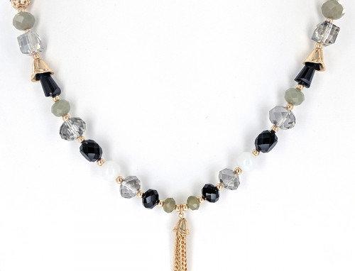 Onyx Necklace & Earring Set
