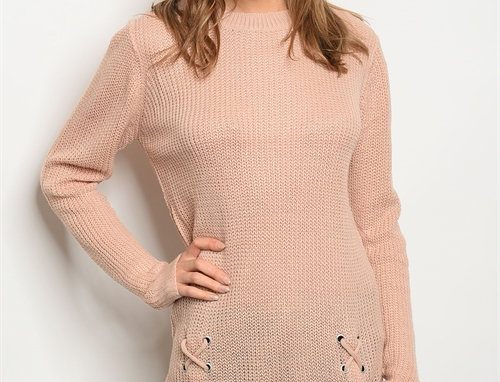 Amber Sweater - Dusty Pink