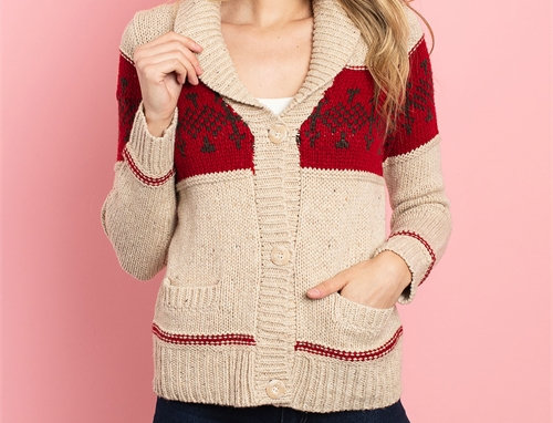 Roselyn Sweater - Wine/Mocha