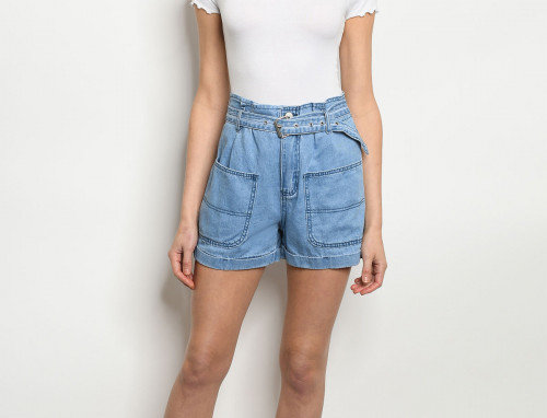 Ibiza Paperbag Belted Shorts