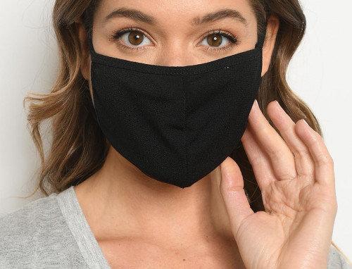 Black Reusable Face Mask