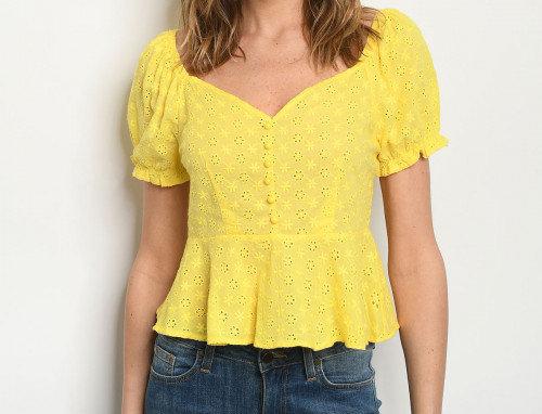 Everlee Top - Yellow