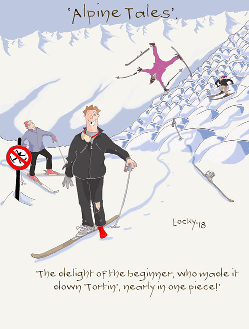 Card, Alpine Tales - 'The Delight of the beginner.....'