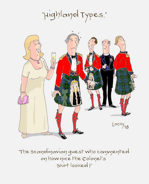"Cards, Highland Flummery - ""The Scandinavian guest who....'"