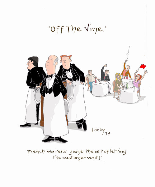 Cards, OFF the VINE - French Waiters'......
