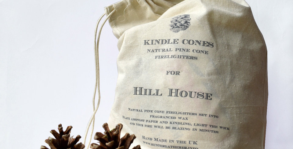 Personalised Bag of Kindle Cone Firelighters