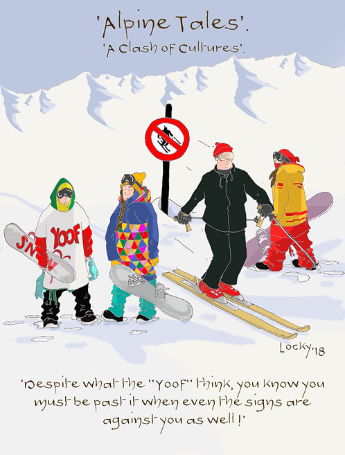 "Card, Alpine Tales - 'Despite what the ""Yoof"" think,.........'"