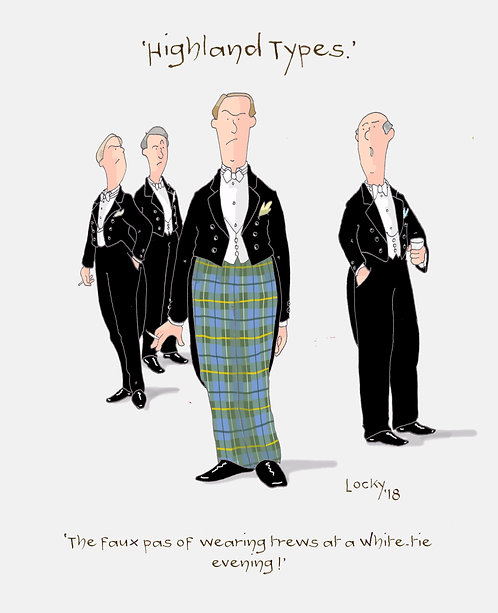 Cards, Highland Flummery - 'The faux pas........'