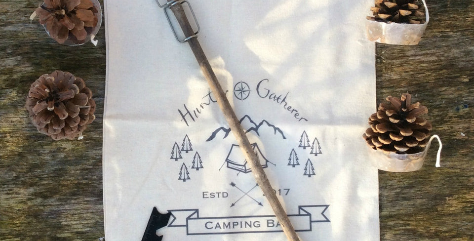 Camping Bag With Firesteel, Firefork And Firelighters