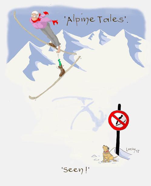 """Card, Alpine Tales - """"Seen!'"""