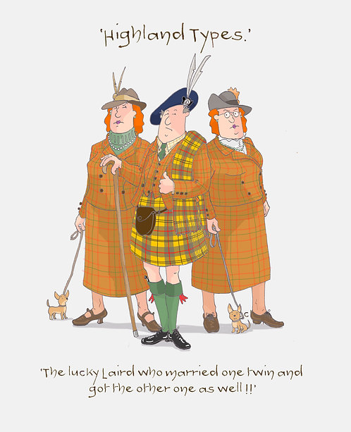 Cards, Highland Flummery - 'The lucky Laird who........'