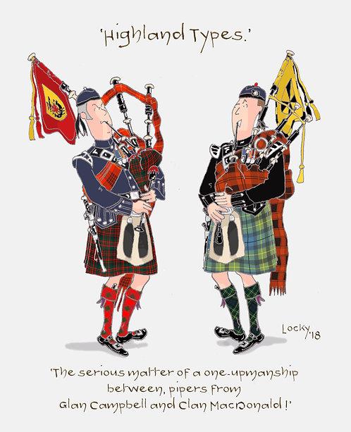Cards, Highland Flummery - 'The serious matter of.....'