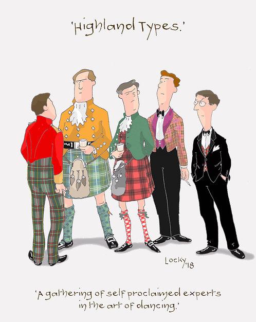 Card, Highland Flummery - 'A gathering of self...'