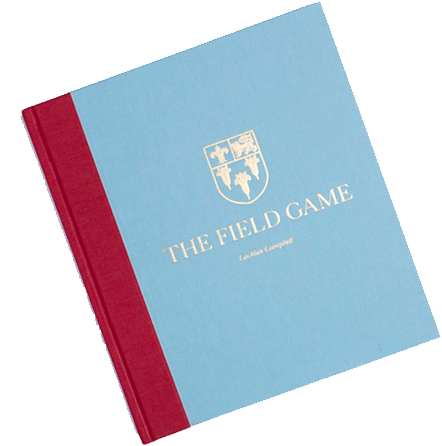 THE FIELD GAME Limited Edition in scarlet and light blue cloth.