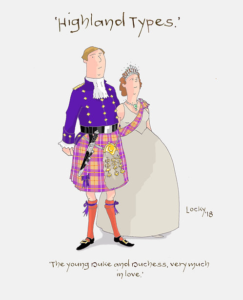 """Cards, Highland Flummery - """"The young Duke and Duchess....'"""