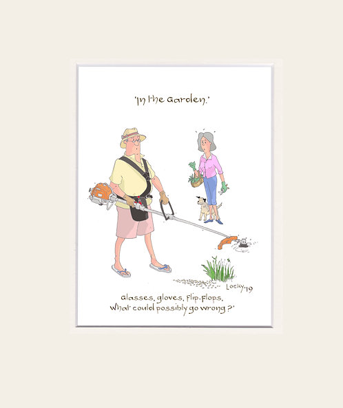 Prints Garden - Glasses, gloves.....