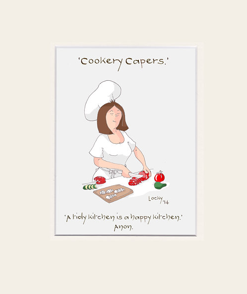 Cookery Capers -  'A tidy kitchen....''