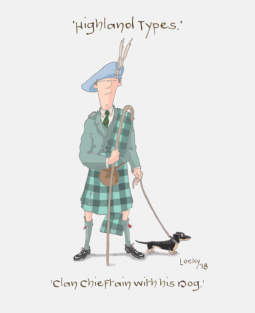 Cards, Highland Flummery - 'The Clan Chieftain....'