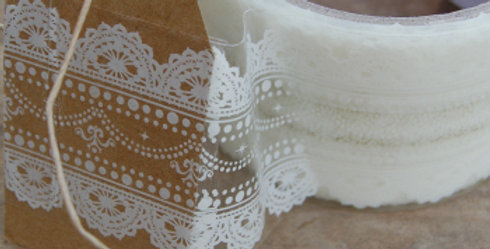 Roll of White Lace Sellotape