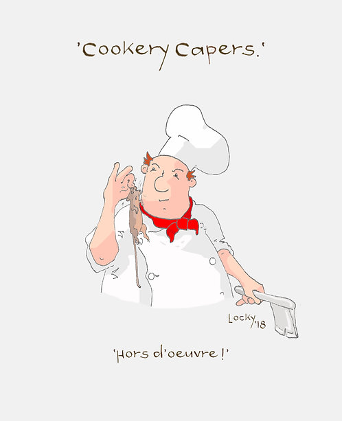 Card, Cookery Capers - 'Hors d'oeuvre!'