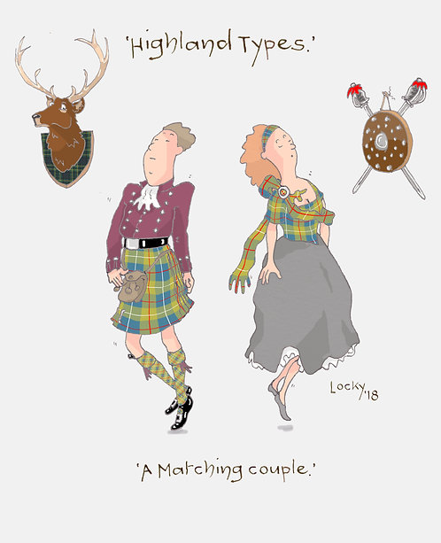 Cards, Highland Flummery - 'A matching.......'
