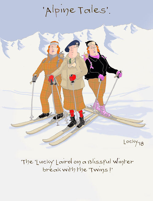 Card, Alpine Tales - 'The lucky Laird on a......'