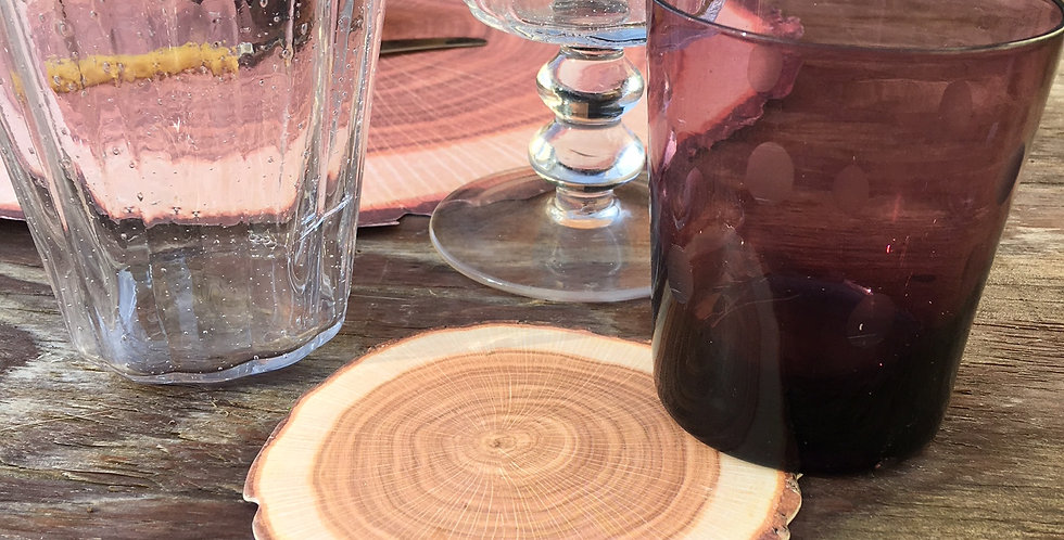 Pack of 10 Paper Log Placemat and 10 Log Coasters