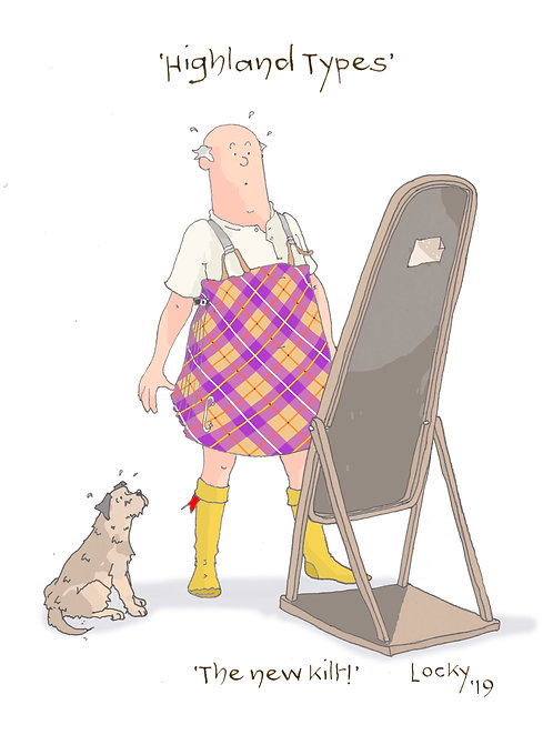 Cards, Highland Flummery -'The new kilt'
