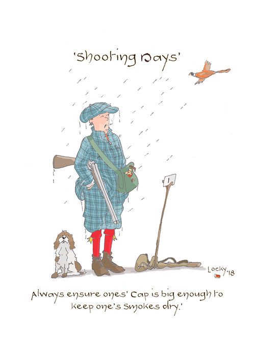 Cards - Shooting Days. 'Always ensure.....'