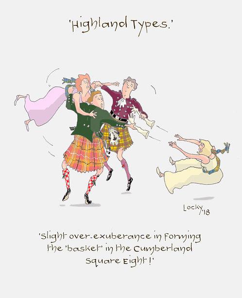 Cards, Highland Flummery - 'Slight over-exuberance....'