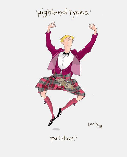 Cards, Highland Flummery - 'Full Flow!'