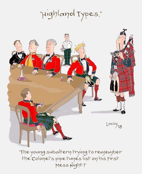 Cards, Highland Flummery - 'The young subaltern.........'