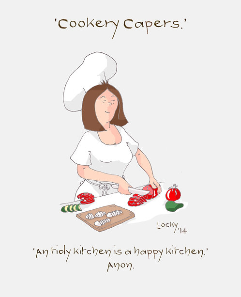 Cards, Cookery Capers - 'A tidy kitchen is a....'