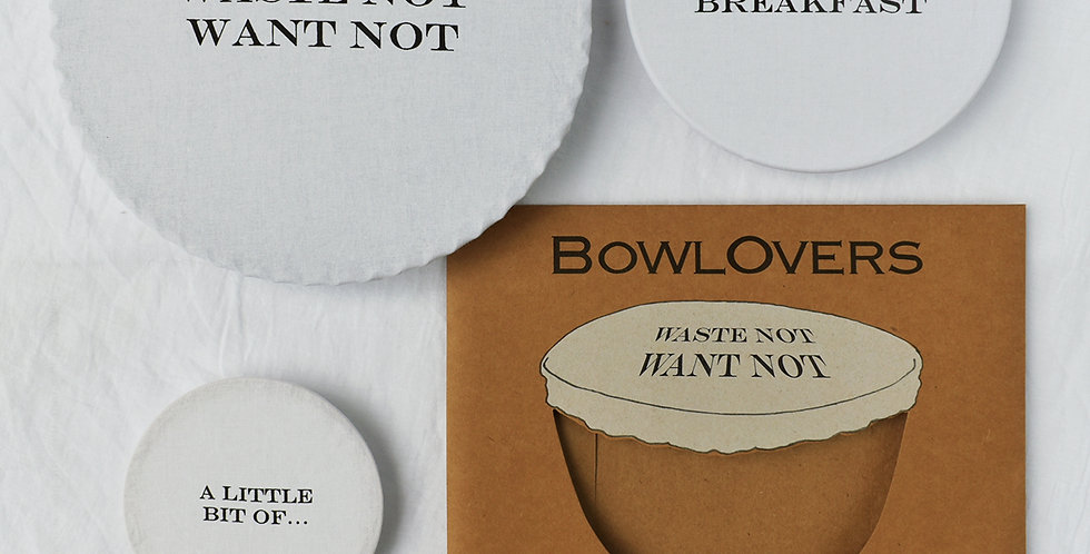 Set of 3 Cotton Covers for Bowls in 3 Useful Sizes