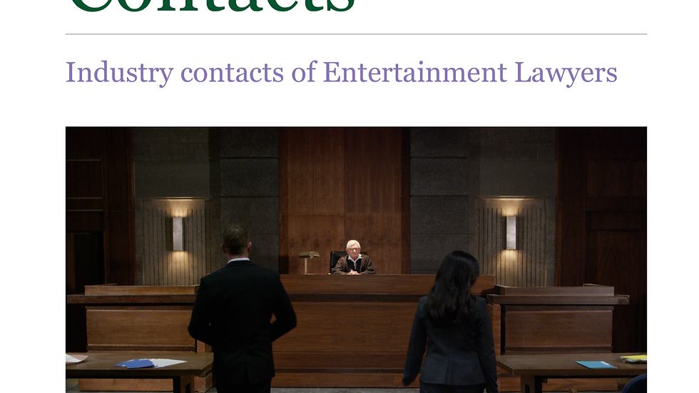 Entertainment Industry Contacts (Lawyers)