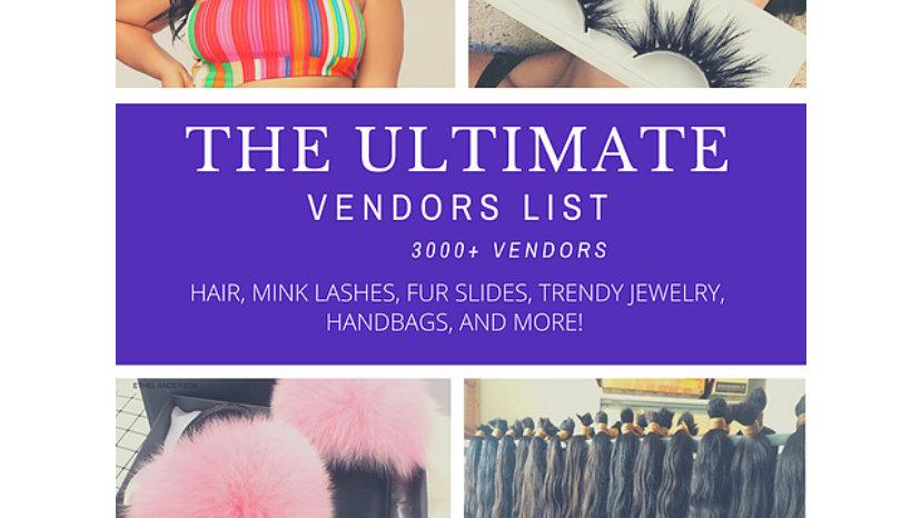 Ultimate Vendors List 3000+ Vendors