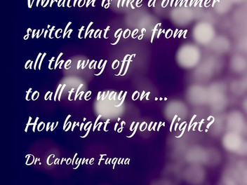 Vibration is like a dimmer