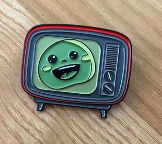 Awesome Pea Custom Pin