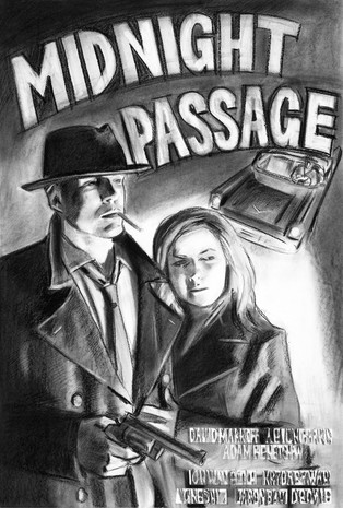 Midnight Passage(Noir Film poster series)