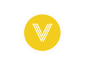 V yellow circle with white circle.png