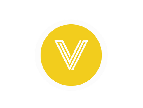 V yellow circle with white circle.png