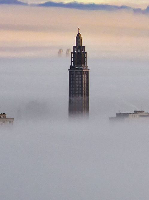 Le Havre sous la brume