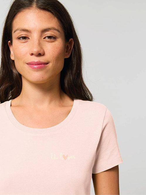 LH LOVER - Le t-shirt rose pastel